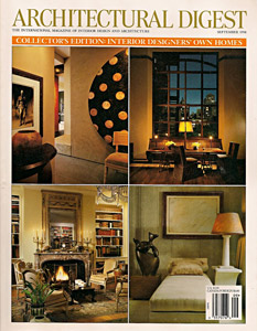 Jane Wilner custom linen feature in Architectural Digest