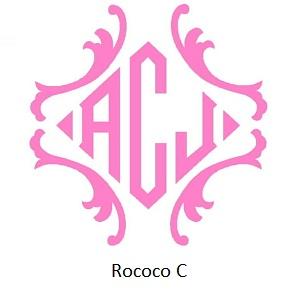 Chain Stitch Monograms Rococo C