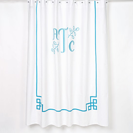 Custom bath linens, towels and shower curtains.