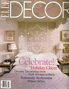 Jane Wilner custom linen feature in Elle Decor