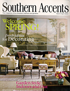 Jane Wilner custom linen feature in Southern Accents