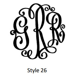 Swiss Monogram Style 26
