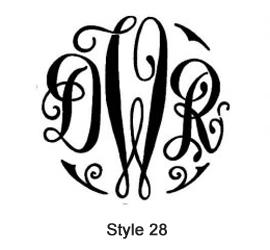 Swiss Monogram Style 28