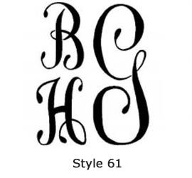 Swiss Monogram Style 61